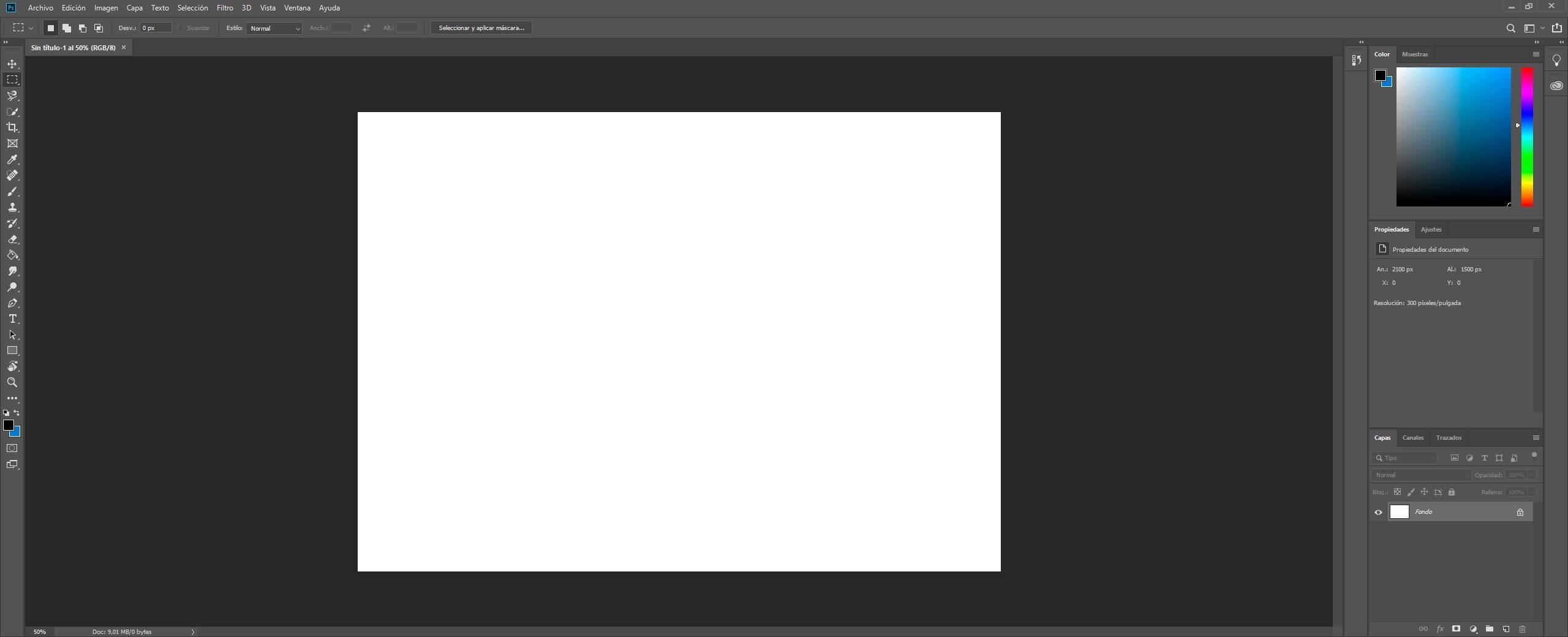 Adobe Photoshop CC - Interfaz principal