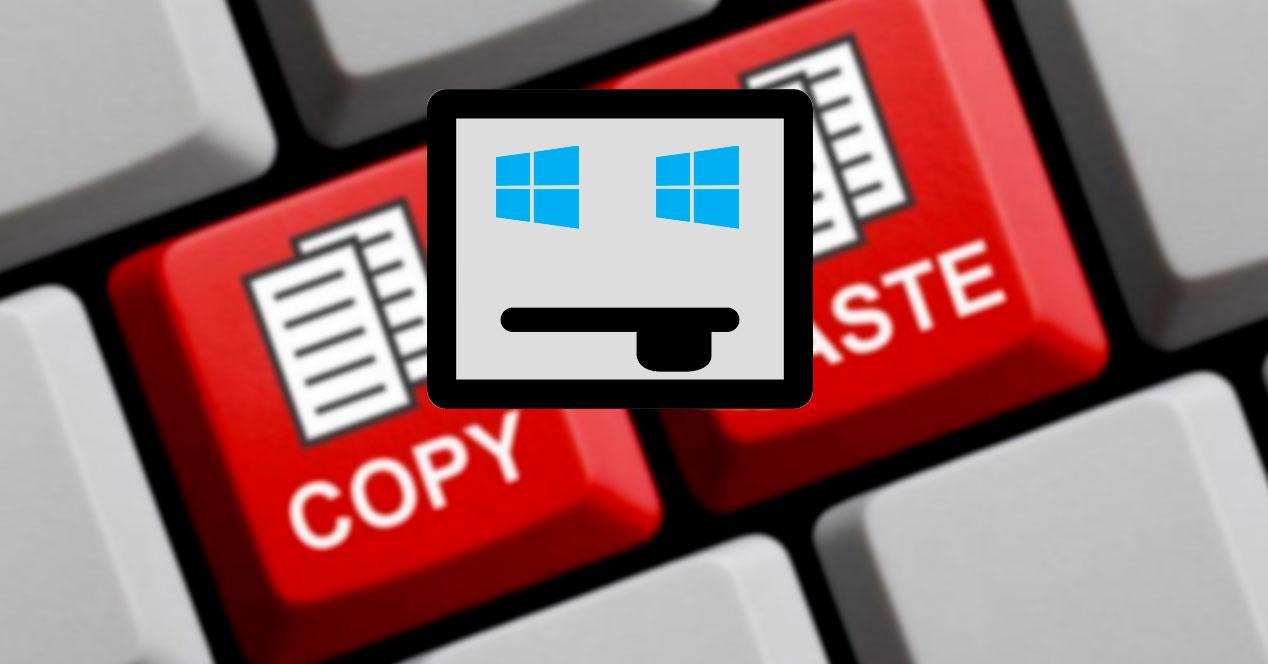 Error copiar pegar Windows 10