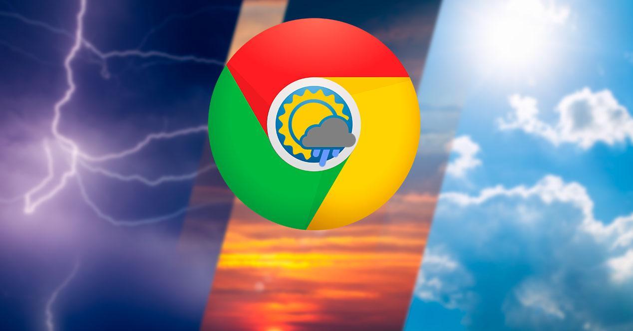 Previsión meteorológica Google Chrome