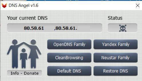 DNS Angel control parental