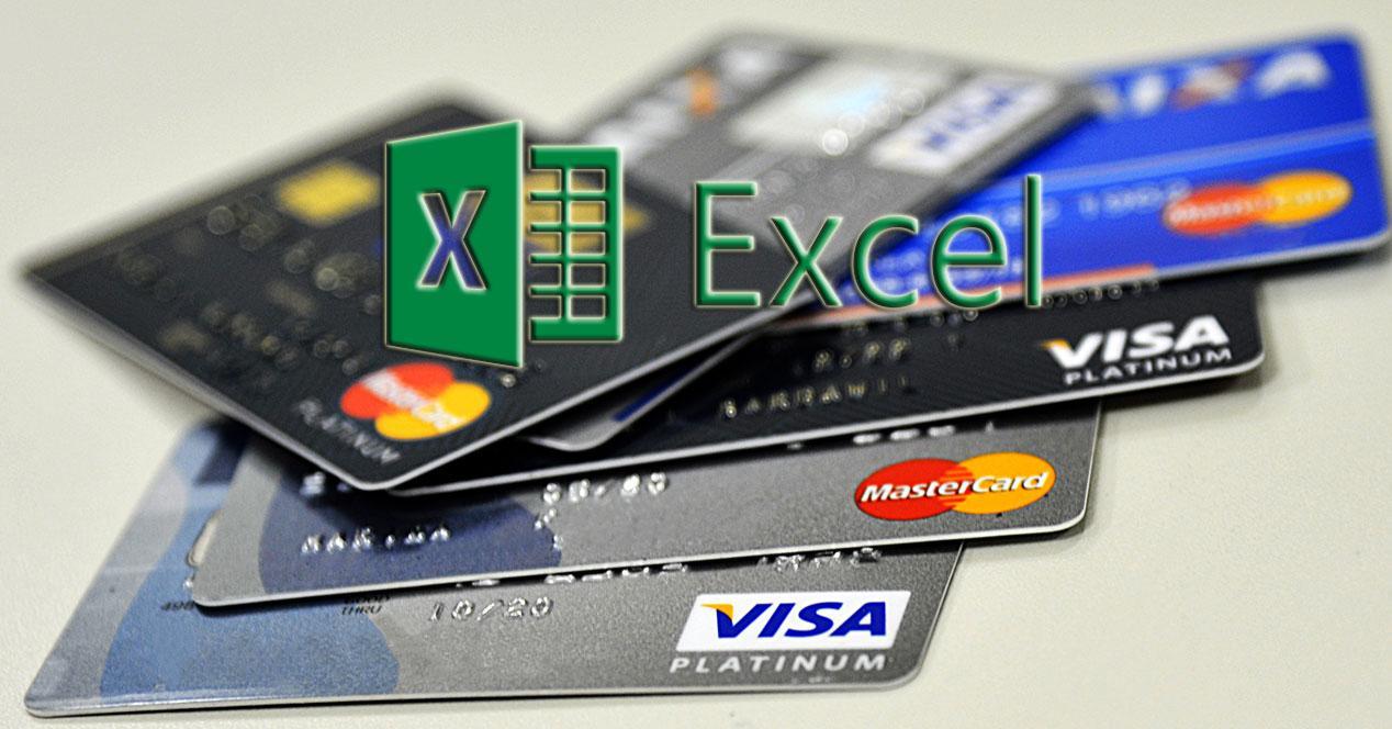 Tarjetas de crédito en Excel