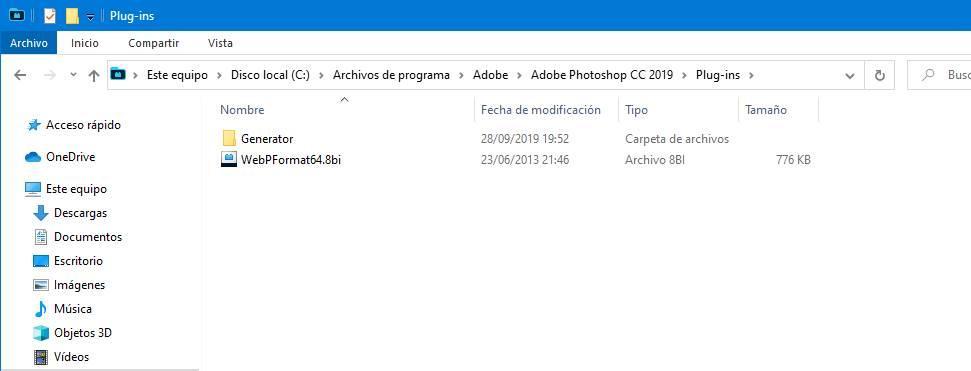 Photoshop - instalar plugin formato WebP