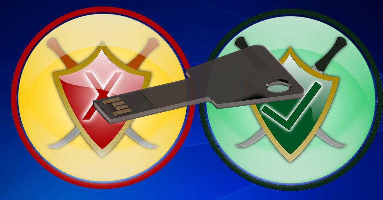 antivirus llave USB
