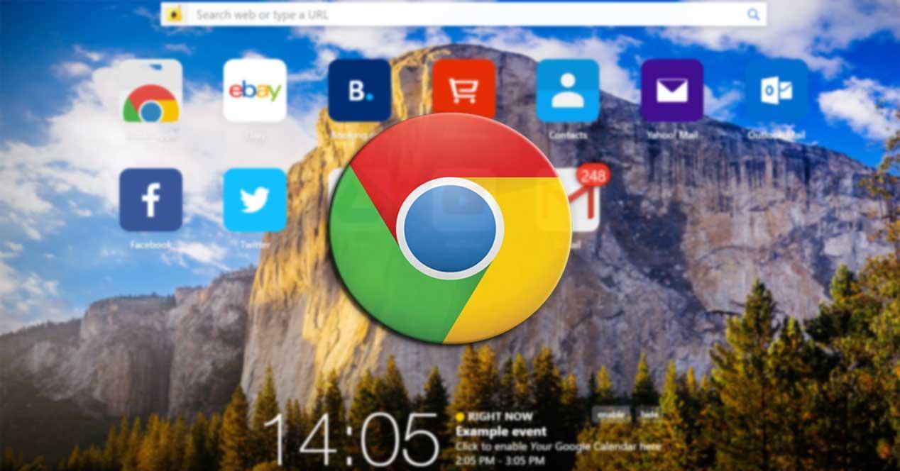 Chrome nueva pestaña