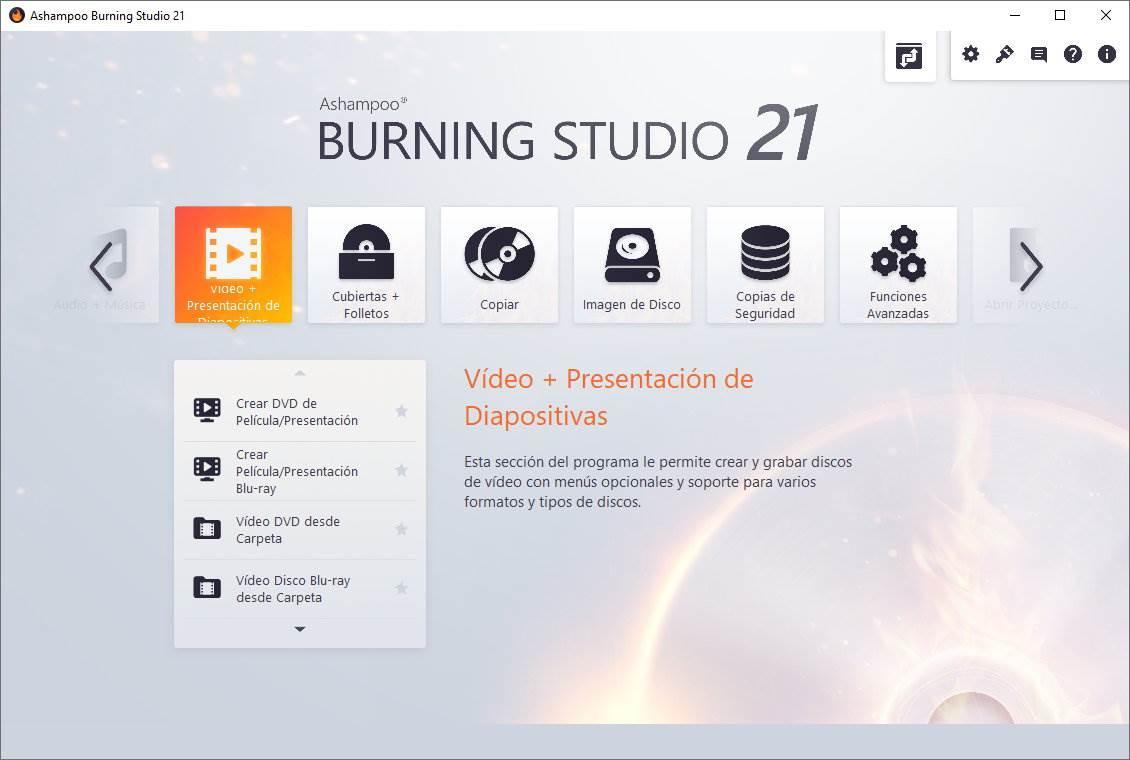 Ashampoo Burning Studio 21 - Novedades 1