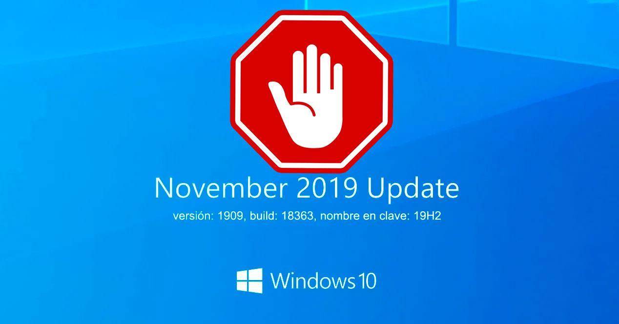 Bloquear actualización Windows 10 1909