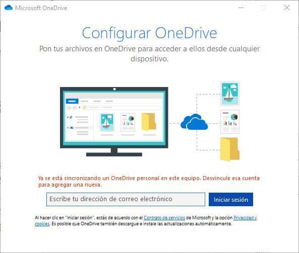 Error iniciar sesión OneDrive Windows 10