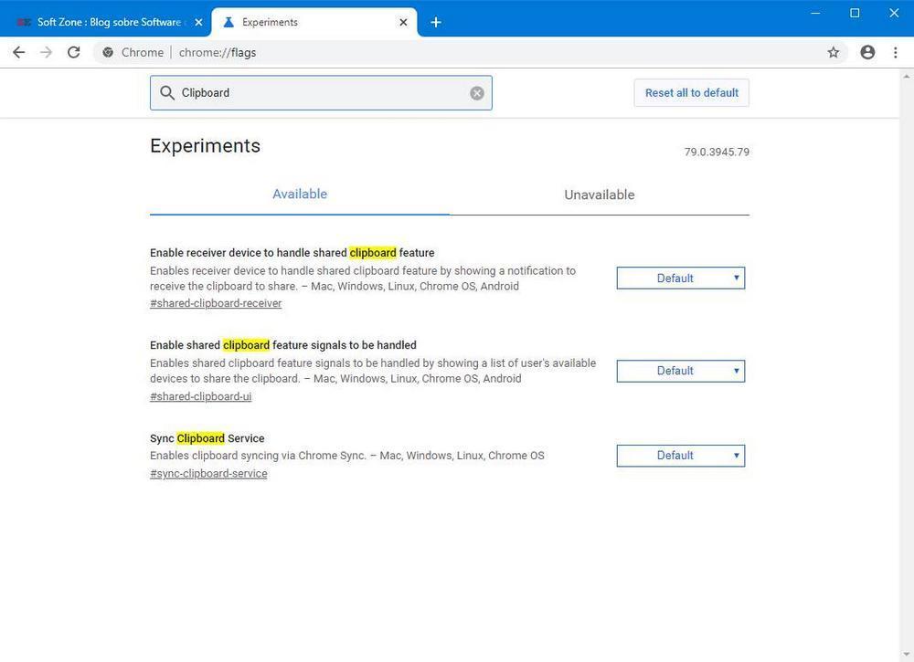 Google Chrome - Compartir portapapeles 1