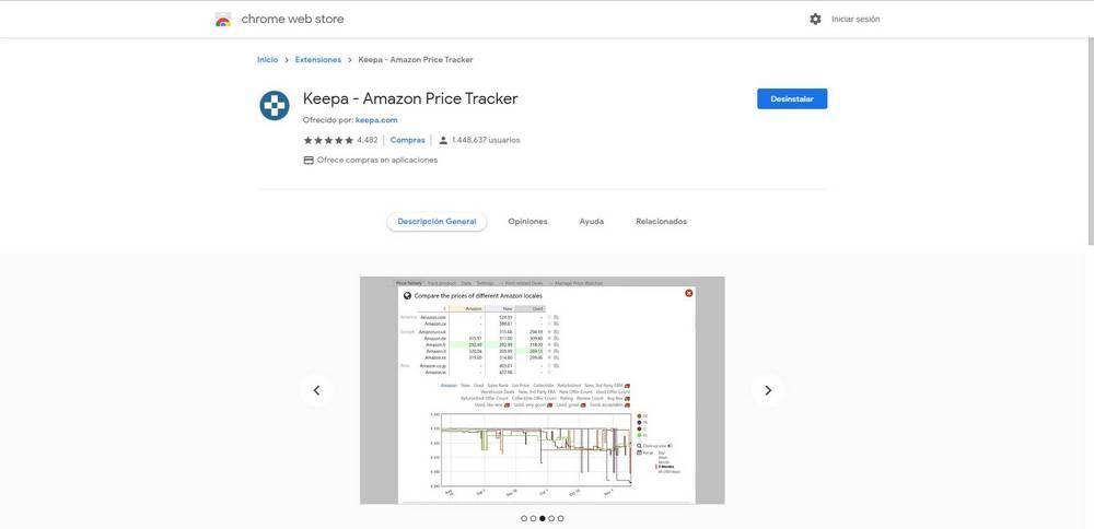 keepa amazon chrome