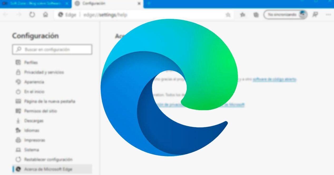 Navegador con nuevo logo de Edge Chromium