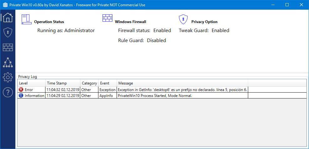 PrivateWin10 - Mejorar privacidad Windows 10 - 2