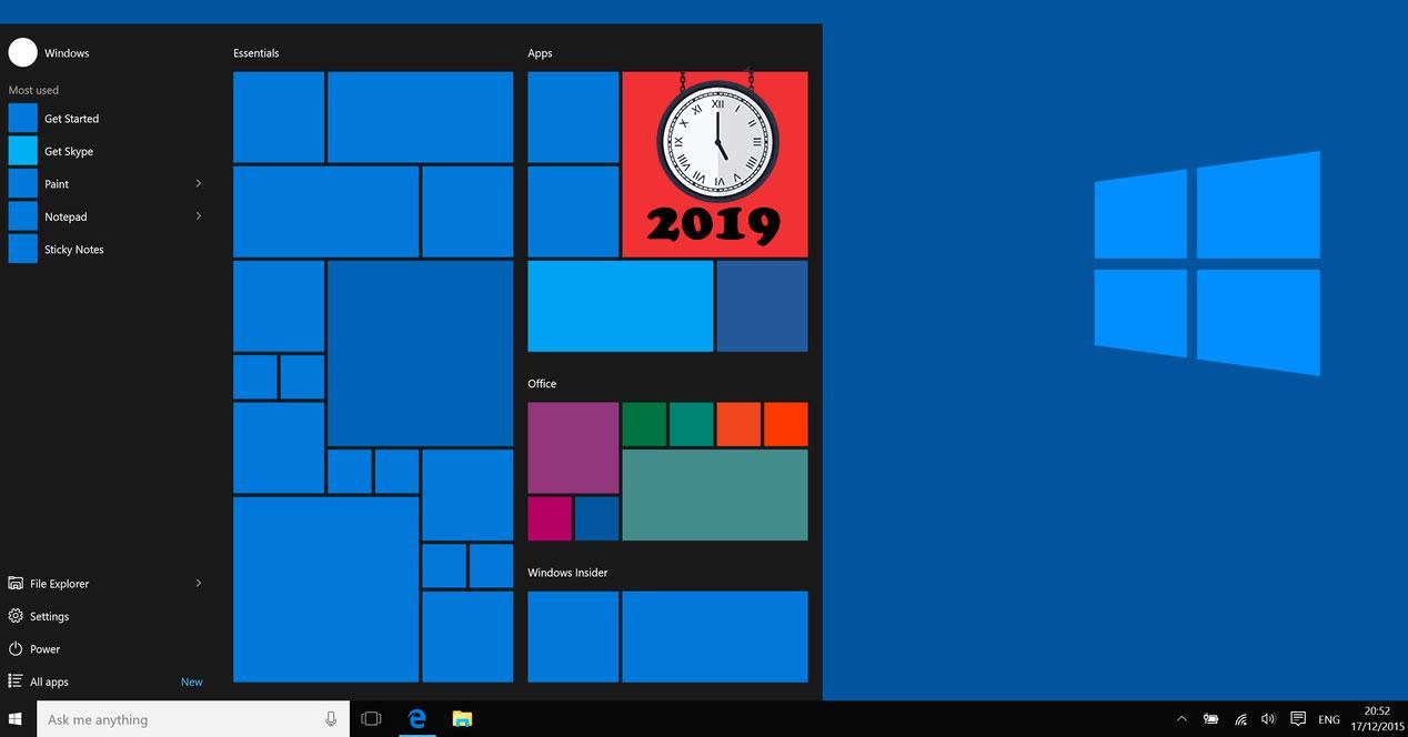 Windows 10 en 2019