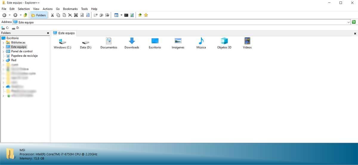 Explorer++ Explorador de archivos
