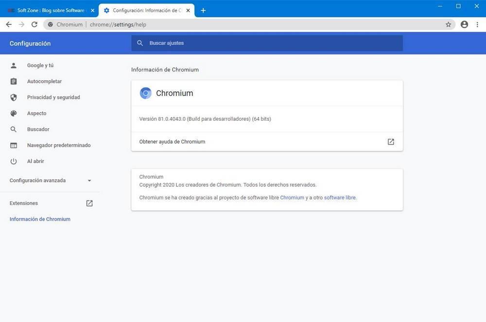 Acerca de Chrome