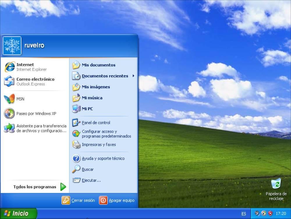 Escritorio Windows XP