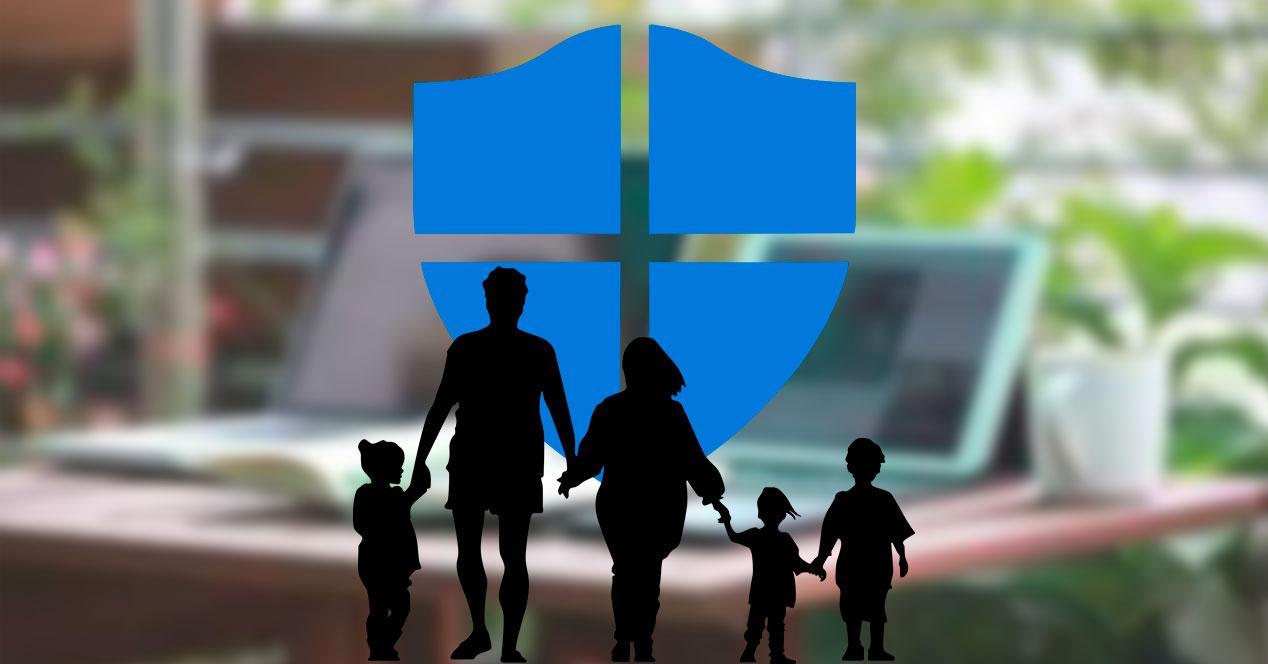 Familia Protección Windows Defender