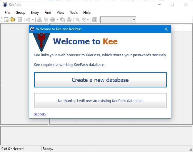 KeePass - Usar base de datos