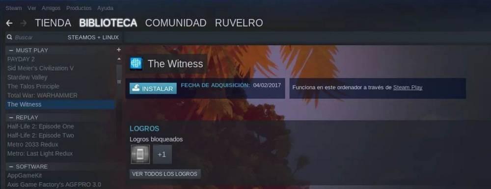 Modo compatibilidad con Linux de Steam Play