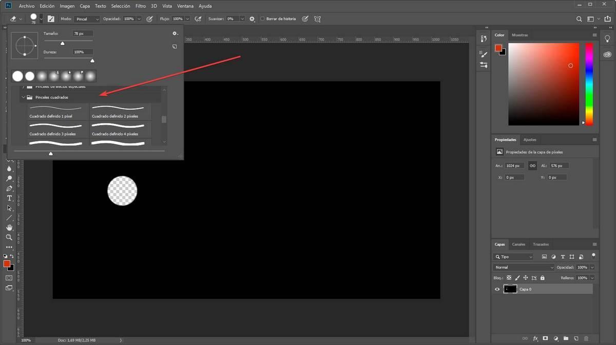 Photoshop - Goma cuadrada 7