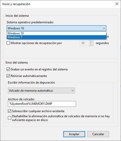 Sistemas operativos instalados en W10