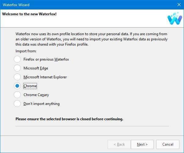 Waterfox alternativa Chrome basada en Firefox - 1