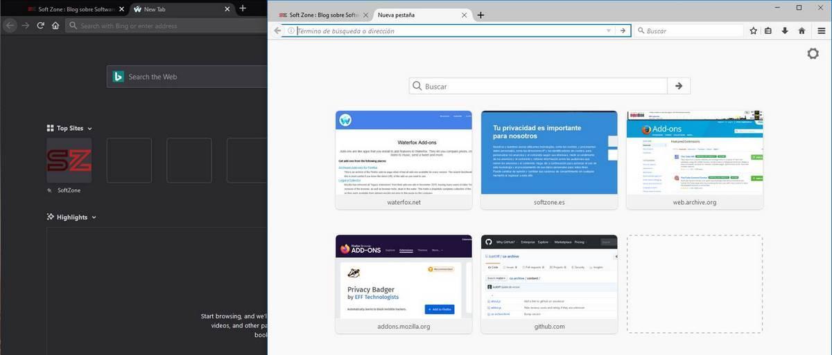 Waterfox alternativa Chrome basada en Firefox - 6