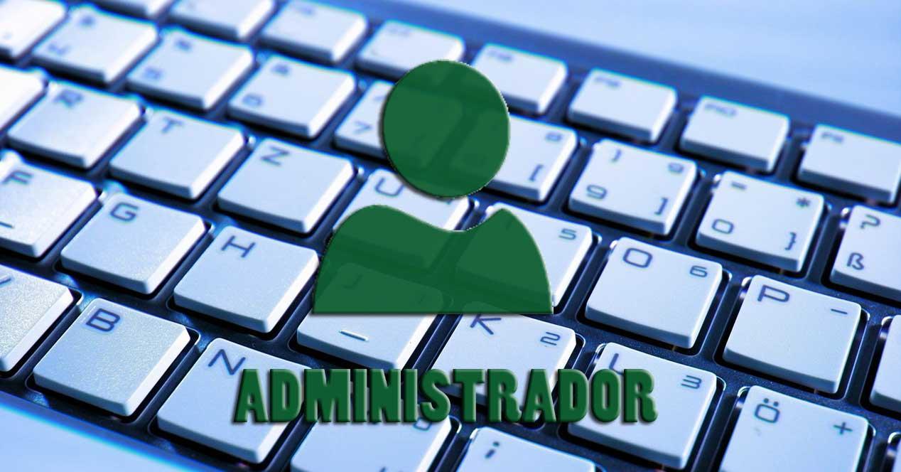 Atajo teclado administrador