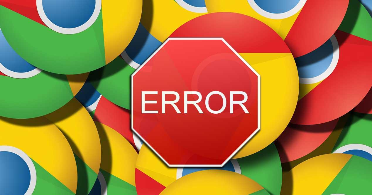 errores en Chrome
