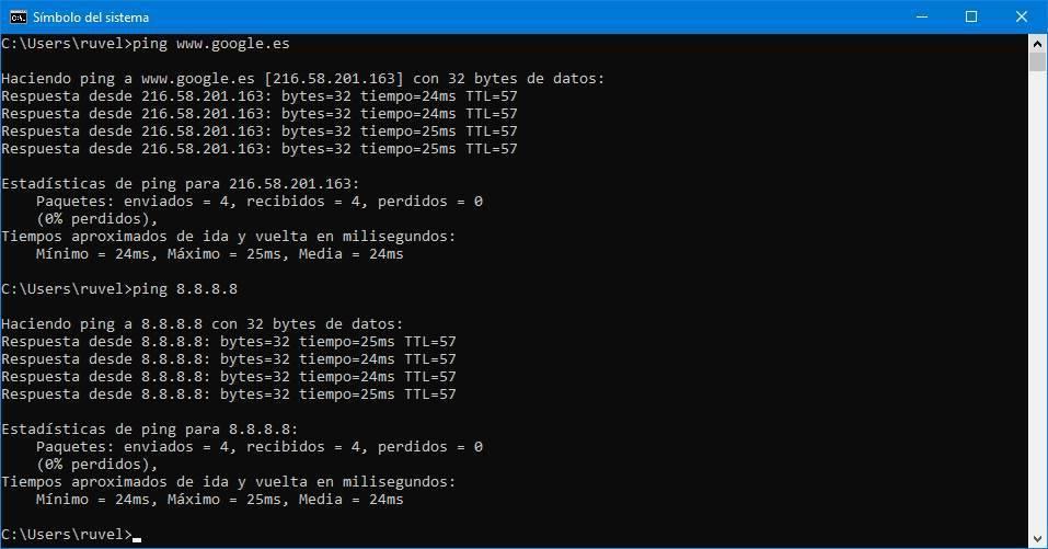 comando Ping Windows 10