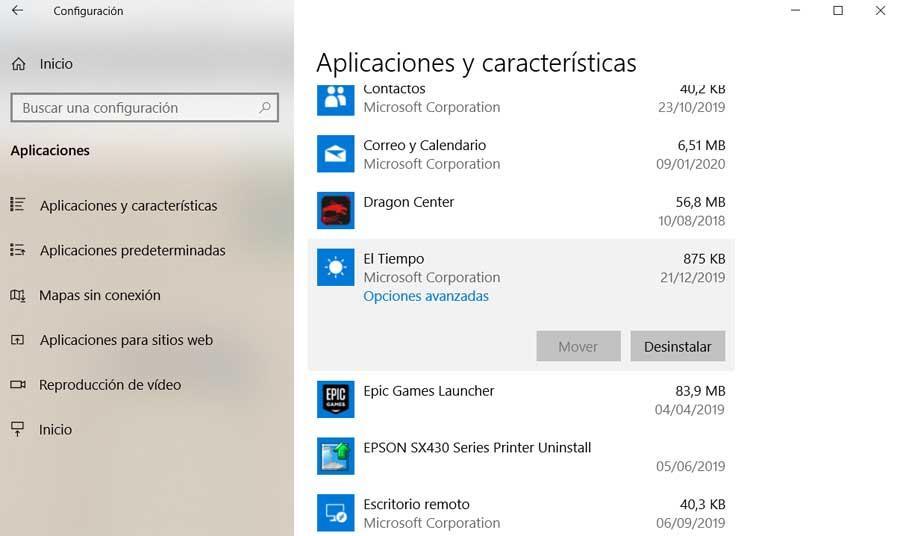 Configuración Windows 10