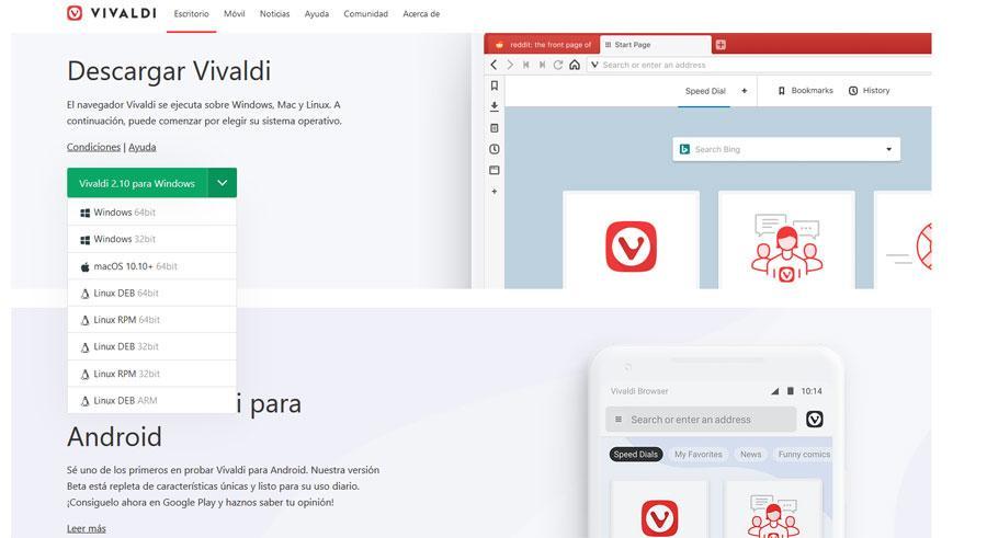 Descargar navegador