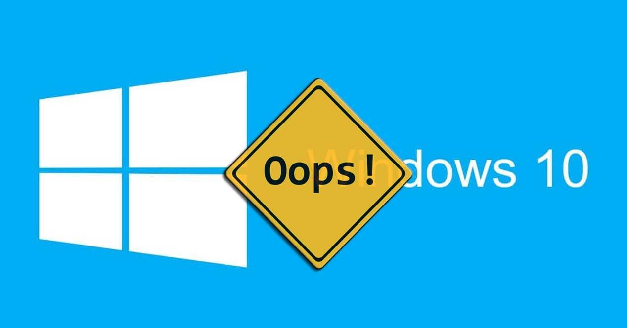 Fallo Windows 10
