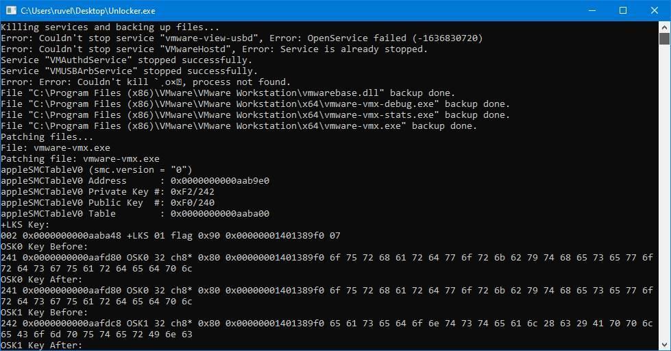 Auto-Unlocker macOS en VMware