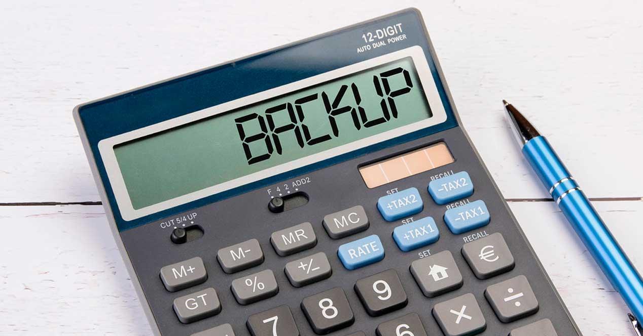Backup en calculadora
