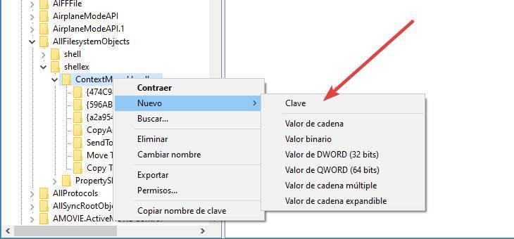 Crear nueva clave de registro de Windows