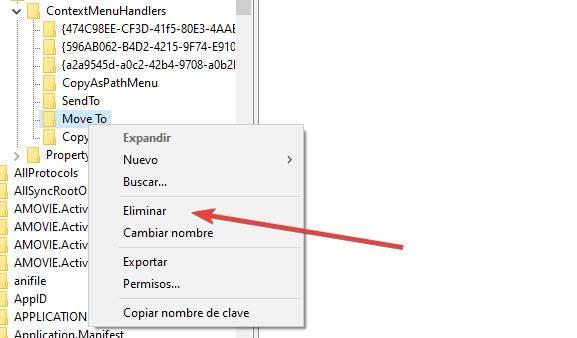 Eliminar clave de registro de Windows
