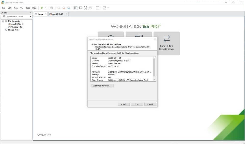 Máquina virtual de macOS en Windows 10 con VMware - 15