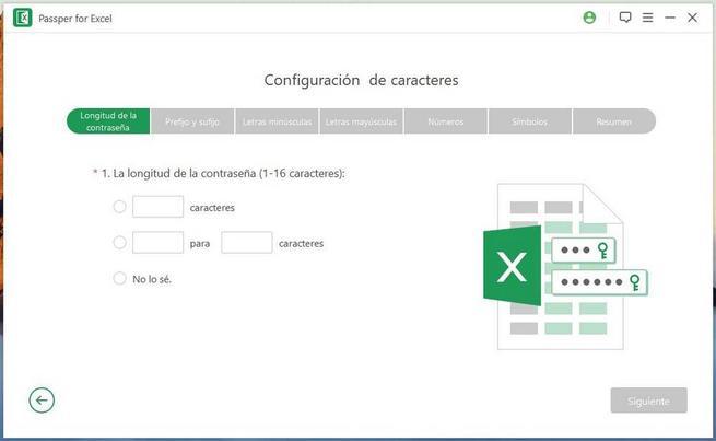 Passper for Excel - Averiguar contraseña 2