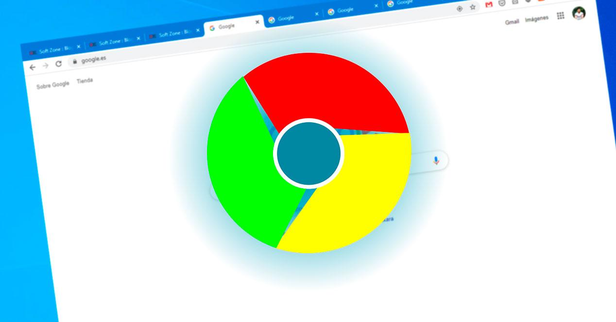 Pestañas Google Chrome en Windows
