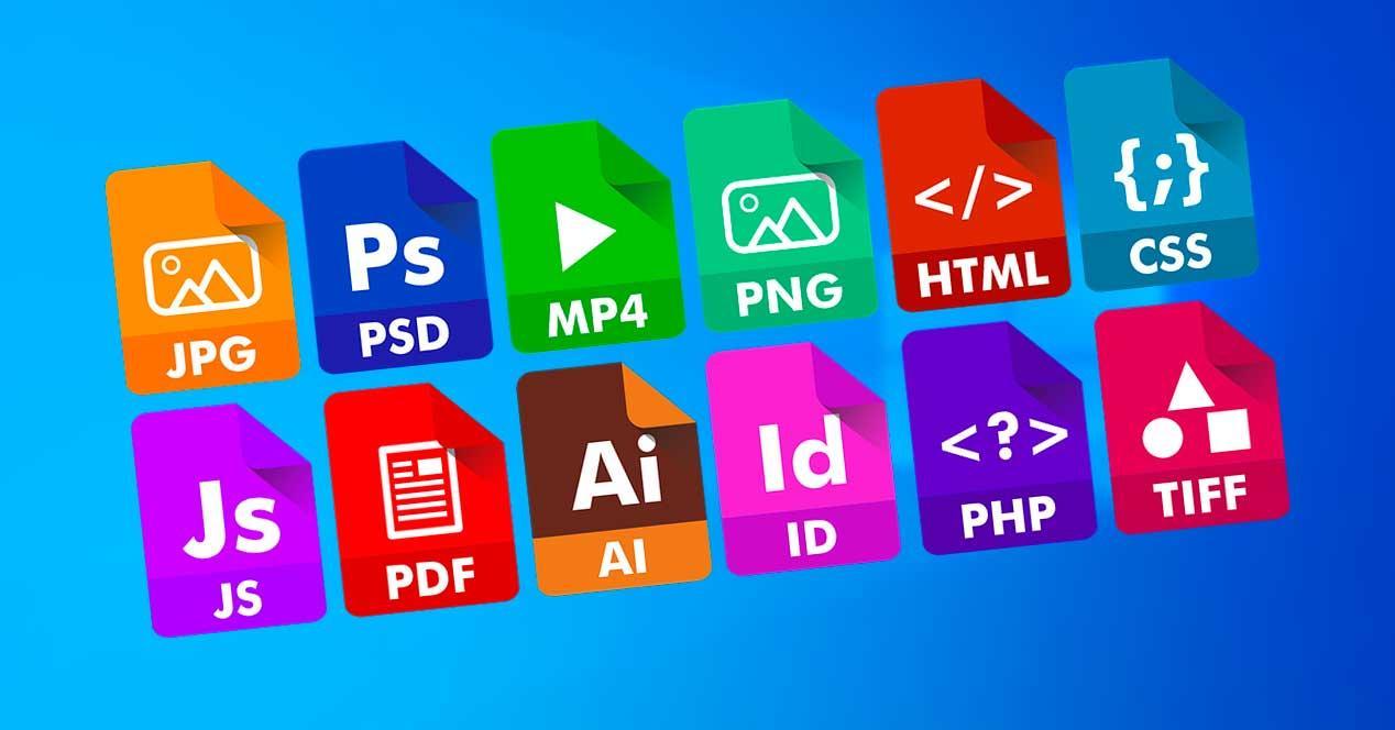 Tipos archivos Windows