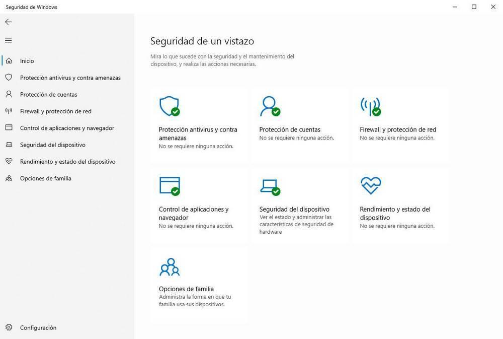 Windows Defender - Ventana principal