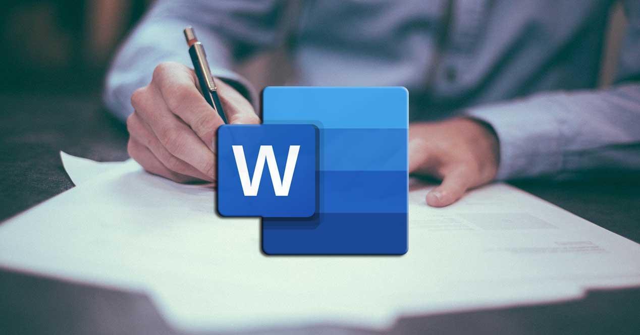 Word escribir