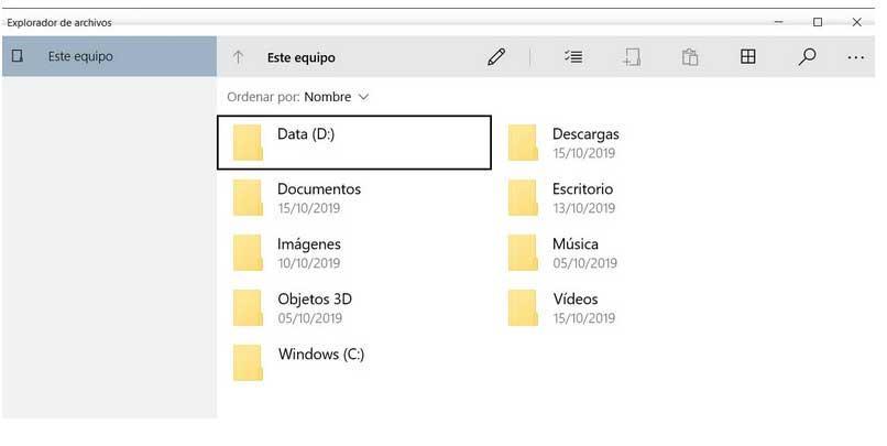 Explorador archivos Windows 10X
