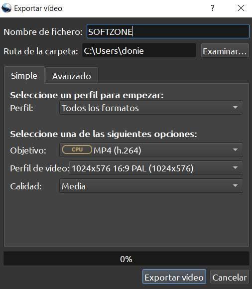Exportar vídeo final