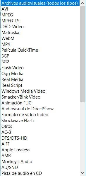 Formatos Media Player