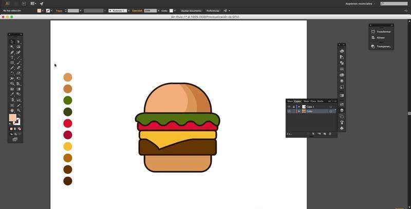 Menú principal Adobe Illustrator