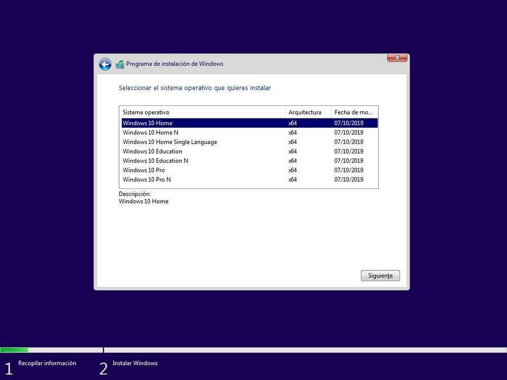 Alegeți ediția Windows 10