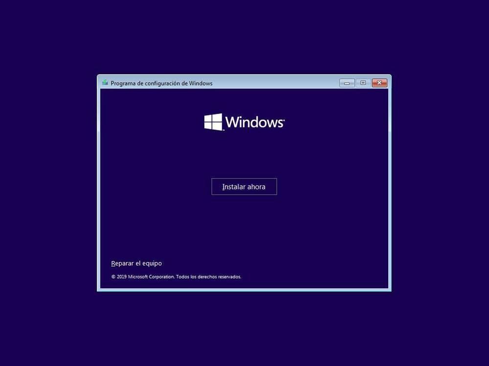 Porniți instalarea Windows 10