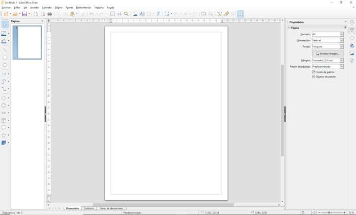 LibreOffice Draw guía de cuadrículas