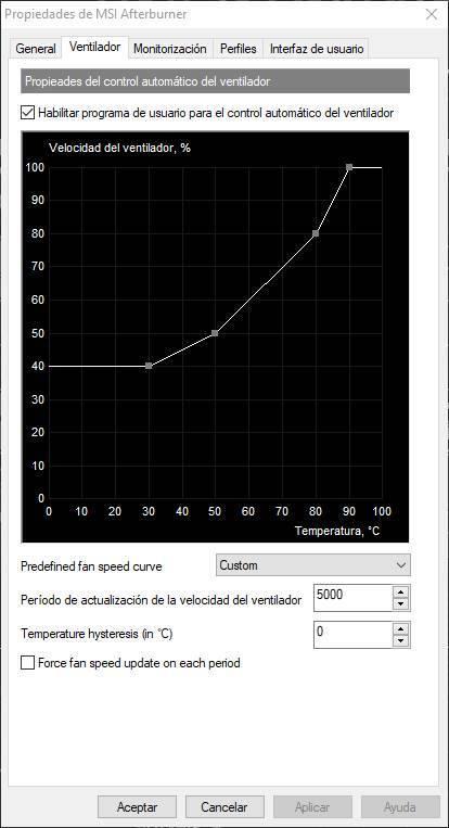 MSI Afterburner - Ventiladores